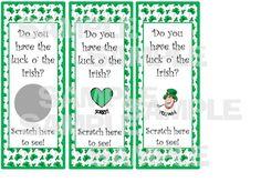 LEPRECHAUN ST PATRICK'S DAY Party Game Scratch Off Tickets  LUCK OF THE IRISH #StPatricksDay