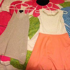 Spaghetti shirt & white and pink dress Shirt size S, Dress size M Dresses Mini