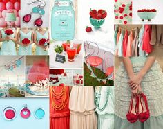 Mint and Red Wedding