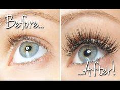▶ How to instantly get BIGGER lashes using ANY kind of mascara! Make Eyelashes Grow, Best Fake Eyelashes, Artificial Eyelashes, False Eyelashes, Mascara Tips, Best Mascara, Makeup Tips, Beauty Makeup, Beauty Tips