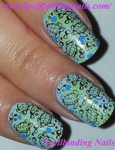 Sea turtles nail art