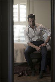 Richard Hardcastle shoots David Gandy for David Preston Source: Mark George David Gandy, Preston, Men Photography, Poses For Men, British Men, Raining Men, Perfect Man, Male Models, Beautiful Men