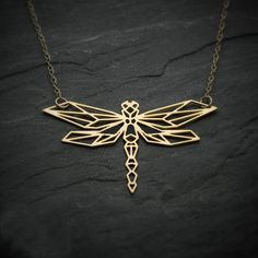 Earrings In Style Dragonfly necklace dragonfly jewelry origami Origami Charms, Origami Jewelry, Origami Necklace, Gold Bar Necklace, Gold Jewelry, Women Jewelry, Skull Necklace, Stone Jewelry, Wedding Jewelry