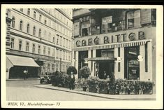 Ansichtskarten Online: Wien VI, Mariahilferstrasse 73 Old Photographs, Vienna Austria, Store Fronts, Vintage Photos, Street View, Humor, History, Photography, Design
