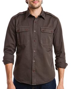 Vince Fatigue Military Shirt  ShirtMen #Shirts
