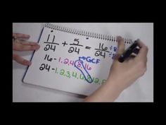 Adding Fractions Part 2 - Simplify the Sum - YouTube
