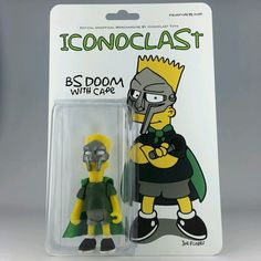 B s Doom by Joe Flores Iconoclast Bart Simpson MF Doom Bart Doom Vinyl Toys 67927a2b0df7