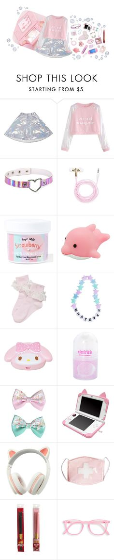 """I don't get older, I level up"" by murasaki666 ❤ liked on Polyvore featuring O-Mighty, Forever 21, Sugar Milk Co, Cotton Candy, claire's and Pink Mint"