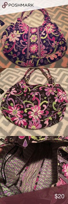 Vera Bradley Large Hobo Bag Retired print: purple punch. Very spacious inside. Great if you're a person who brings everything they own everywhere they go (like me! :) ). Open to offers! Vera Bradley Bags Hobos