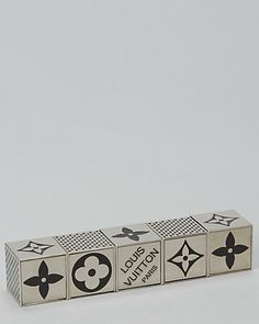 Louis Vuitton Limited Edition Silver 2011 Dice Game Set