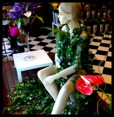 The Ivy Dress - Window Display by Melton Florist 2011