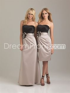 Wedding Dresses, Bridesmaid Dresses, Prom Dresses and Bridal Dresses Allure Bridesmaid Dresses - Style 1281 - Allure Bridesmaid Dresses, Spring Strapless satin floor length a-line gown. Also available knee length as style Shown In: Black/Cappuccino Champagne Colored Bridesmaid Dresses, Allure Bridesmaid Dresses, Knee Length Bridesmaid Dresses, Wedding Bridesmaids, Allure Dresses, Bridesmaids Nails, Satin Dresses, Strapless Dress Formal, Prom Dresses