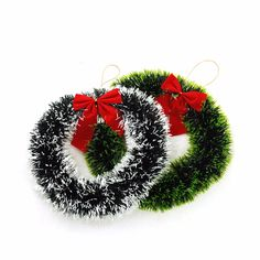 30/35CM Christmas Door Window Ornaments Madder Wreath With Bow-knot For Xmas Wall Window Decor Hanging Ornaments New Year Decor #clothing,#shoes,#jewelry,#women,#men,#hats,#watches,#belts,#fashion,#style