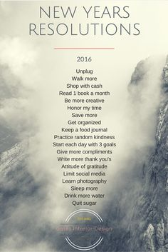 19 New Years Resolutions for 2016 | Gates Interior Design - Amanda Gates New Year New You, Happy New Year 2017 Life, Happy New Year 2017 Design, New Year Goals, Happy Life, Quotes For 2017, 2017 Goals Quotes, Happy New Year 2017 Quotes, New Years Eve Quotes