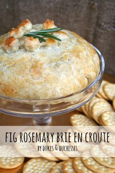 """Fig Rosemary Brie en Croute"" -- Made with fig preserves and fresh rosemary... yum!"