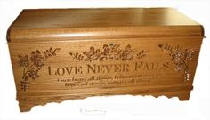 hope chest with engraving