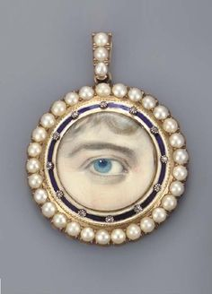 Georgian lover's eye pendant.