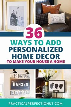 Trying to find ways to turn your house into a home? Look no further! Check out this master list of stylish ideas of ways that you can personalize your house to make it feel more like home! #monogram #personalized #homedecor