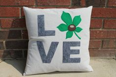 Buckeye Love Canvas Pillow or Cover