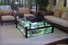 diy aquarium furniture stands are an integral part of every aquatic system. The aquarium stand should be sturdy so that it can bear the weight of a filled a Fish Tank Table, Fish Tank Coffee Table, Cool Coffee Tables, Coffee Table Design, Home Aquarium, Aquarium Design, Aquarium Ideas, Aquarium Fish, Fish Tank Design