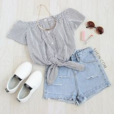 We're ready to hang out and you? Shop in the bio. SKU: blouse160419713 pant160509101 Use inst33 for 33% off on shein.com! #inst33 #shein