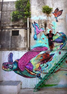 This artist is among the most inspirational colourful street artists we've come across. Check out this amazing work!! Farid Rueda