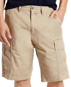 Levi's Men's Carrier Loose-Fit Cargo Shorts  - Blue 42