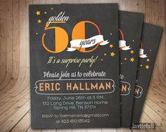 50th Birthday Invitation Adult Birthday Invitation by invitefull, $15.00