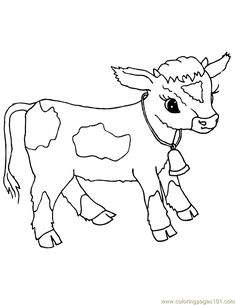 coloring pages of baby cows | baby farm animal coloring pages | Only Coloring Pages ...