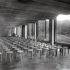 Alvar Aalto's Viipuri Library (1930s) with the 'Stacking stool model no.60'