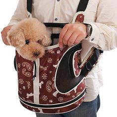 Snowflakes Pattern Front Backpack Bag Carrier for Pets Dogs (Assorted Colors) – USD $ 47.89