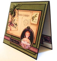 This lovely birthday card is made by @Clare Charvill using Place in Time! Gorgeous! #graphic45 #cards