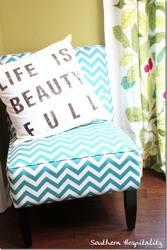 cute chair and pillow!