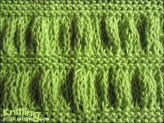 Ruching is a simple technique that results in a fantastic-looking fabric. You need two pairs of needles, one suited to your yarn's thickness and one larger pair