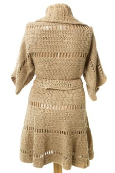 CARDIGAN CHILE $150.- crochet in camel by Espiritu Folk. Crochet Clothes, Chile, Knitwear, Folk, Dresses With Sleeves, Knitting, Long Sleeve, Sweaters, Collection