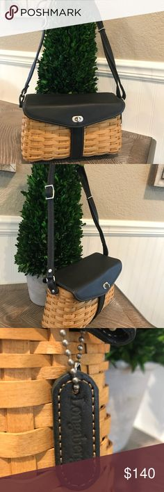 Longaberger Hostess Signature Shoulder Bag Brand new Longaberger Hostess Signature Shoulder Bag with black leather  No tags  Never used, no defects  Comes from smoke free and pet free home longaberger Bags Shoulder Bags