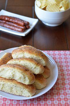 Homemade Hot Dog Buns  http://penniesonaplatter.com/2011/05/06/hot-dog-buns/