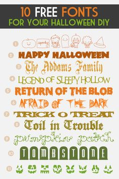 10 Free Fonts for Halloween DIY