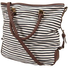 Striped Canvas Tote and other apparel, accessories and trends. Browse and shop 21 related looks.
