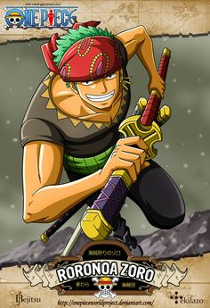 One Piece - Roronoa Zoro by OnePieceWorldProject on DeviantArt