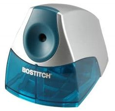 Shop for Bostitch Personal Electric Blue Pencil Sharpener. Get free delivery On EVERYTHING* Overstock - Your Online Art & School Supplies Destination! Get in rewards with Club O! Best Pencil Sharpener, Office Electrics, Electric Pencil Sharpener, Writing Correction, Steel Cutter, Safety Switch, Office Items, Back To School Shopping, Electric Blue