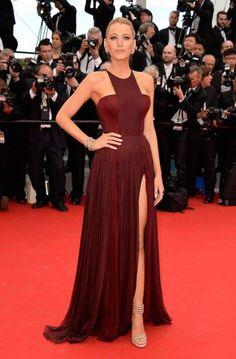 Serena Van Der Woodsen bordeaux dress