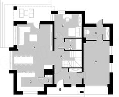 Projekt domu Montreal 160,2 m2 - koszt budowy 251 tys. zł - EXTRADOM Bungalows, Montreal, House Plans, Floor Plans, How To Plan, Home, Blueprints For Homes, Home Plans, Ad Home