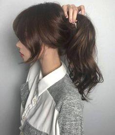 Short Hair With Bangs, Long Wavy Hair, Hair Bangs, Hairstyles With Bangs, Girl Hairstyles, Korean Hairstyles Women, Medium Hair Styles, Curly Hair Styles, Ulzzang Hair
