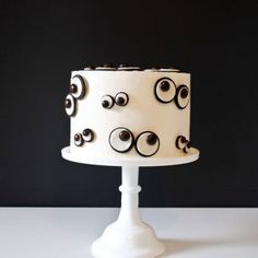 Gâteau d'Halloween : les petits yeux