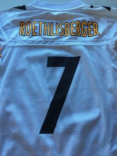 YOUTH BEN ROETHLISBERGER #7 PITTSBURGH STEELERS WHITE REEBOK JERSEY SHIP