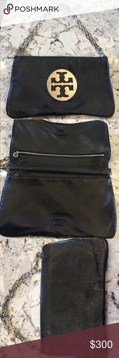 Tory butch clutch Black Tory butch clutch in perfect condition Tory Burch Bags Clutches & Wristlets