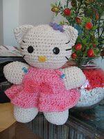 Amigurumi Hello Kitty. Amiguinha para dormir.