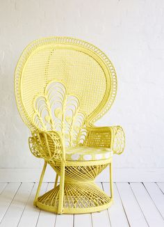 Lady Peacock Chair in Lemon via The Family Love Tree