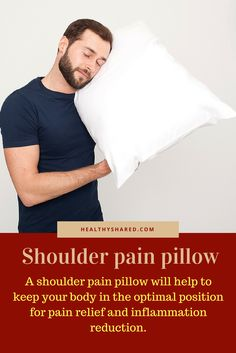 Shoulder pain doesn't have to be a fact of life. There is way to relieve the nagging discomfort and we think that a shoulder pain pillow is one of the Survival Tips, Healthy Tips, Pain Relief, Healthy Lifestyle, Positivity, Mens Tops, Recovery, Healthy Life, Optimism
